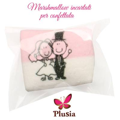 Marshmallow incartato per Matrimonio