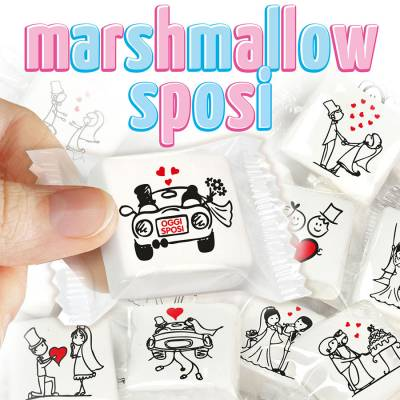 Matrimonio - Marshmallow con scenette Matrimonio