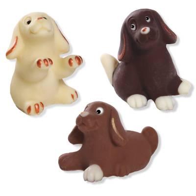 """Animali e giochi di cioccolato - """"Tris Cagnolini"""" di cioccolato"""