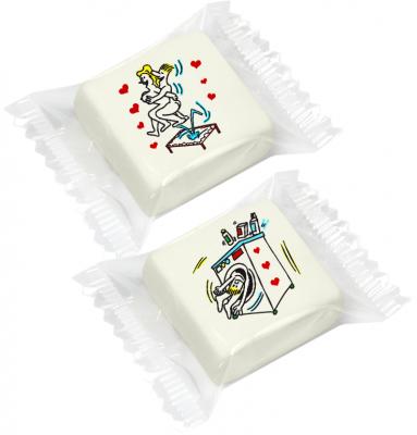 Celibato e Nubilato - Marshmallow kamasutra assortito - cm 3x3