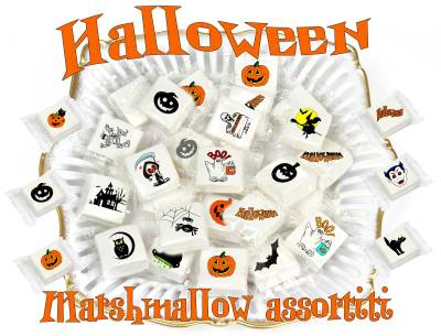 Halloween - Marshmallow Halloween assortito - cm 3x3 - 100 pz