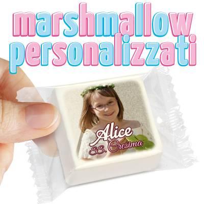 Comunione e Cresima - Marshmallow personalizzati per comunione o cresima