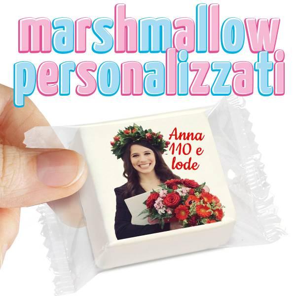 Marshmallow personalizzati - cm 4,5x4,5 - Laurea