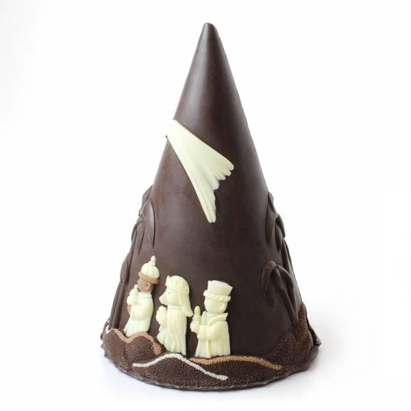 Presepe su Albero di Natale, ai tre cioccolati - Cioccolato di Natale