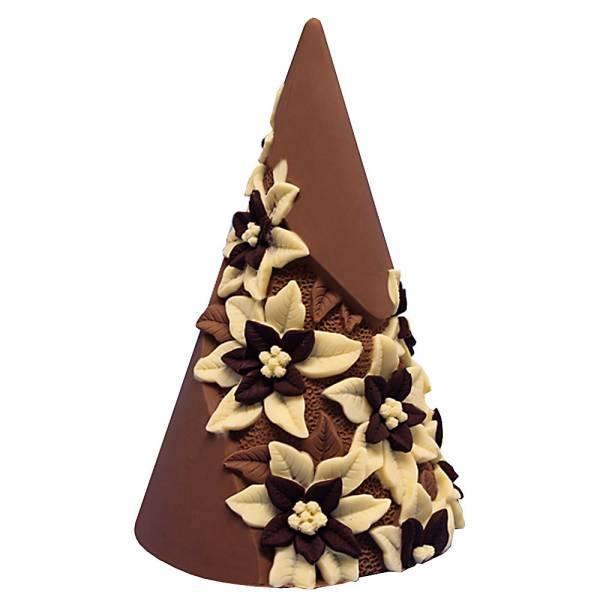 Stelle di Natale su albero di Natale, ai tre cioccolati - Cioccolato di Natale