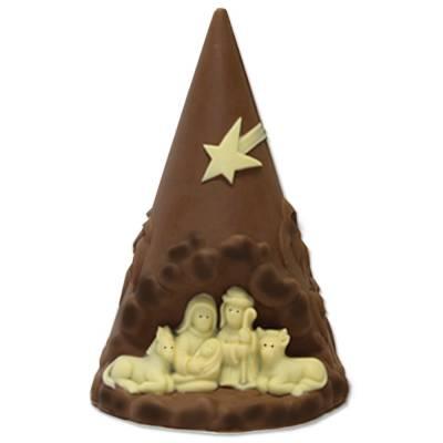 Albero di Natale con Presepe tutto di cioccolato