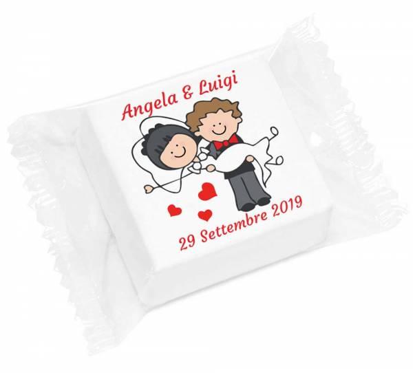 Marshmallow personalizzato - cm 4,5 - g 10 - Marshmallow personalizzati