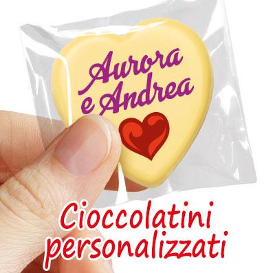 Matrimonio - Cioccolatini personalizzati per il tuo matrimonio