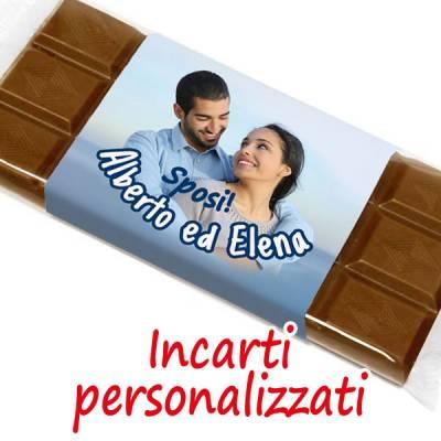 Matrimonio - Tavoletta di cioccolato con incarto personalizzato