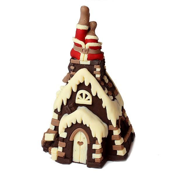 Babbo Natale che entra nel camino, ai tre cioccolati - Natale di Cioccolato