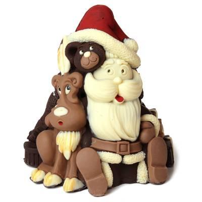 Natale ed Epifania - Babbo Natale con sacco regali e renna
