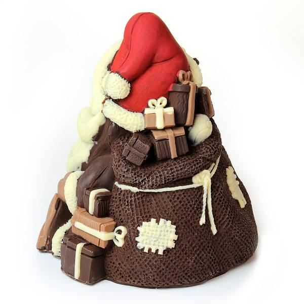 Babbo Natale di cioccolato con renna - Natale di Cioccolato