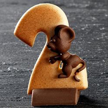 Numeri di cioccolato con basetta - Compleanno e Ricorrenze