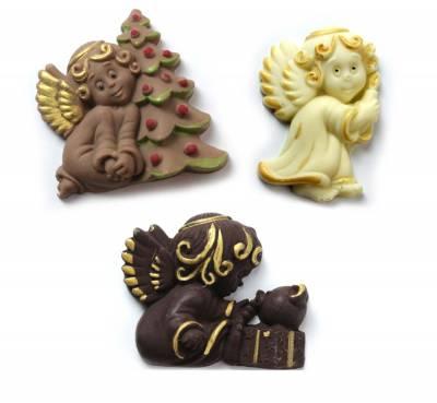 Natale ed Epifania - Tris angioletti di cioccolato