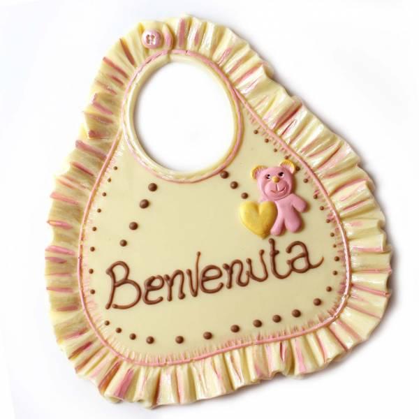 Bavaglino di cioccolato decorato - Battesimo e nascita