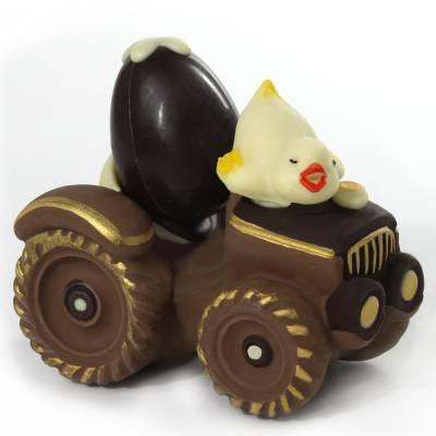 Uova di Pasqua - Trattore con ovetto e pulcino di cioccolato