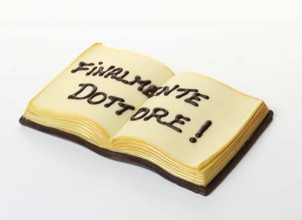 Libro aperto di cioccolato - Laurea