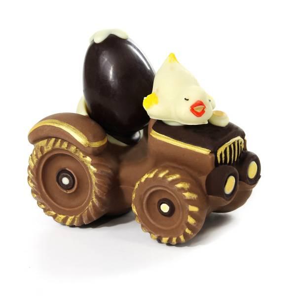 Trattore con ovetto e pulcino di cioccolato - Uova di Pasqua
