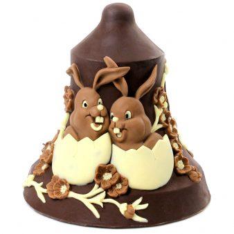 Uovo di Pasqua artigianale Campana con coniglietti