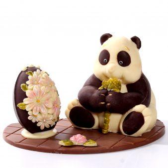 Uovo di Pasqua artigianale Panda