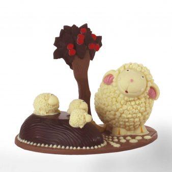 Uovo di Pasqua artigianale Agnelli di cioccolato