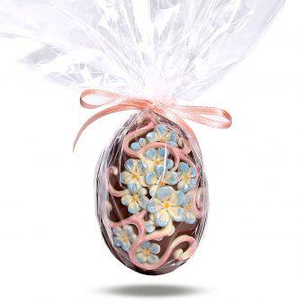 Uovo di Pasqua artigianale fiorito
