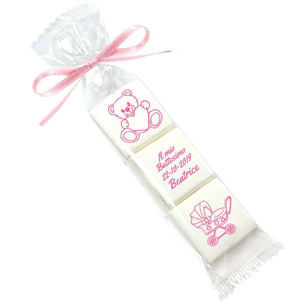 Bomboniera marshmallow personalizzata Nascita Battesimo - Battesimo e nascita