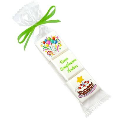 Compleanno - Compleanno sacchettino marshmallow personalizzato