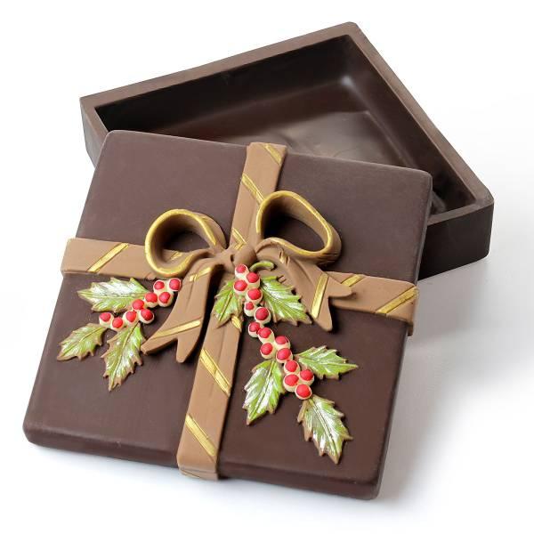 Scatola regalo di Natale di cioccolato (vuota) - Cioccolato di Natale