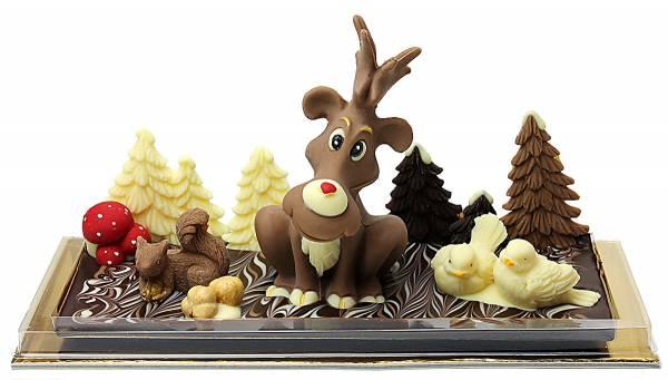 Renna di Babbo Natale di cioccolato