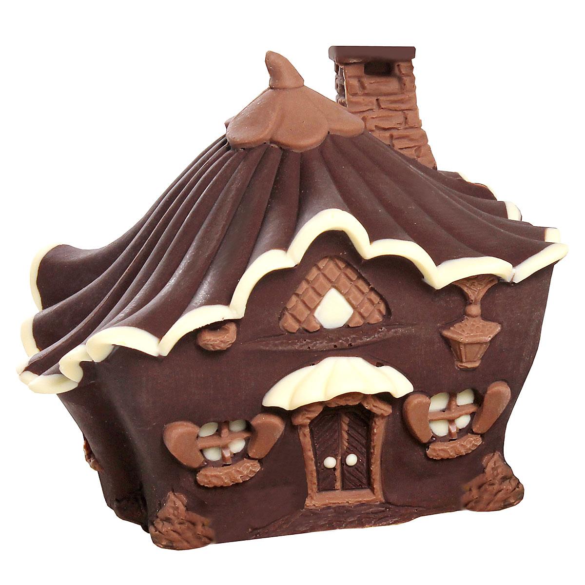 """""""Casina delle Fate"""" tridimensionale decorata ai tre cioccolati"""