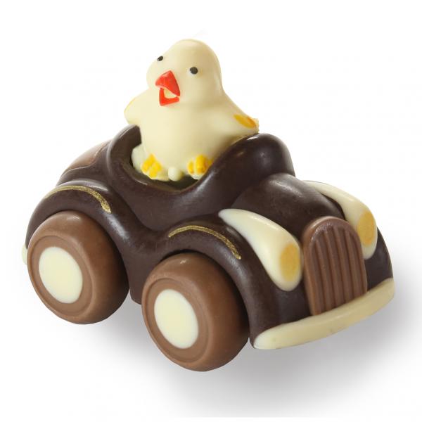 Auto con pulcino di cioccolato - Uova di Pasqua