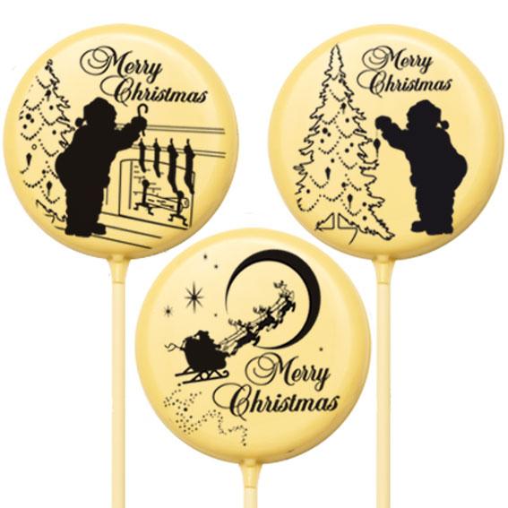Lecca lecca di Natale di cioccolato - Natale di Cioccolato
