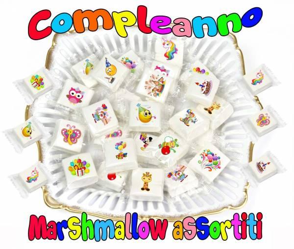 Marshmallow compleanno assortito - cm 3x3 - Compleanno e Ricorrenze