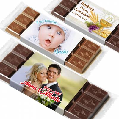 Tavolette di cioccolato personalizzate