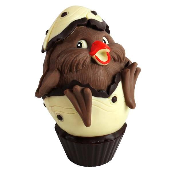 Pulcino di cioccolato nel guscio (dimensione media) - Uova di Pasqua