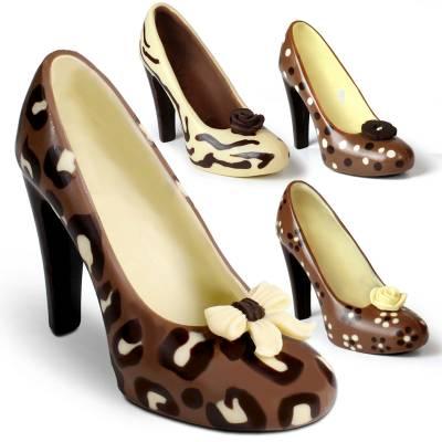 scarpe di cioccolato per la festa della mamma o della donna