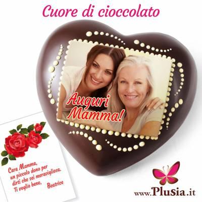 Cuore di cioccolato personalizzato per la festa della mamma