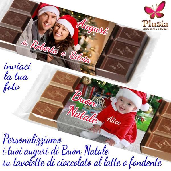 Tavolette di cioccolato personalizzate con auguri di Natale - Cioccolato di Natale