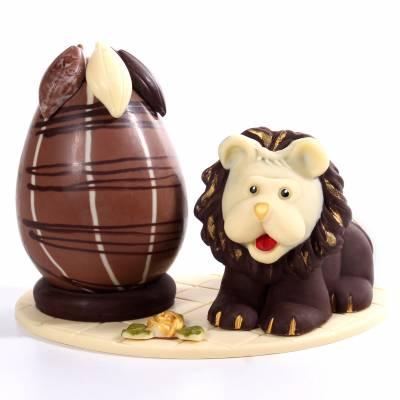 Composizione-di-cioccolato-Leone-e-Uovo-di-Pasqua-19019