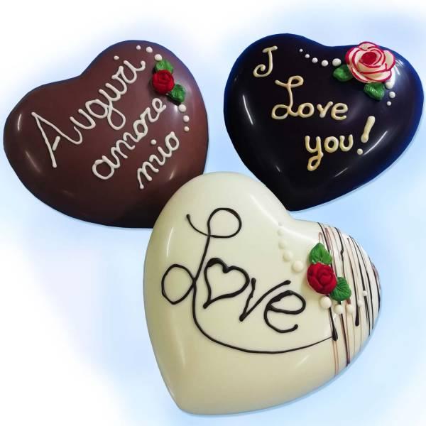 Cuore di cioccolato decorato - Matrimonio, Anniversari, S.Valentino