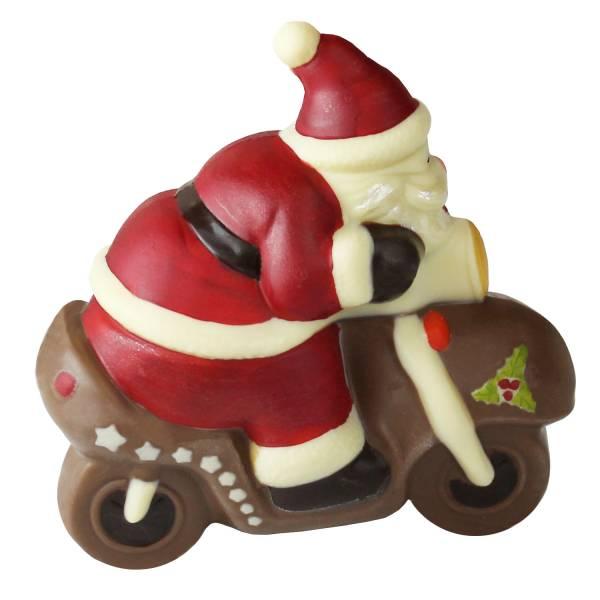 Babbo Natale di cioccolato in moto - Cioccolato di Natale